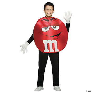 M&M's Character Poncho Red Teen Kid's Costume