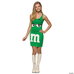 M&M's Green Tank Dress Teen Girl's Costume