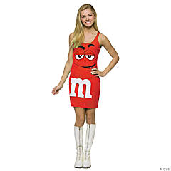 M&M's Red Tank Dress Tween Girl's Costume