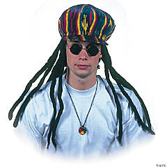Rasta Applejack Hat with Dreadlocks