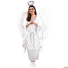 Angel Costume with Dress - Adult Women's
