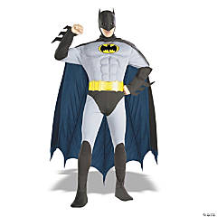 Batman Muscle Chest Blue Adult Men's Costume