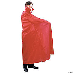 Floor Length Cape Red
