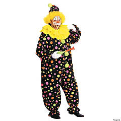 Clown Neon Dotted Adult Men's Costume
