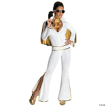 Elvis Female Adult Women's White Costume
