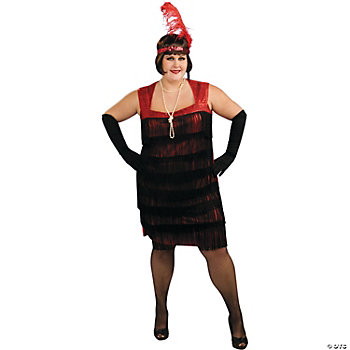 Flapper Plus Size Adult Women's Costume
