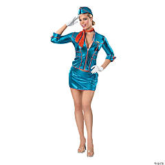 Vintage Flight Attendant Adult Women's Costume