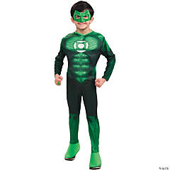 Green Lantern Hal Jordan Deluxe Muscle Costume for Boys
