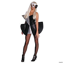 Lady Gaga Black Sequin Dress Adult Women's Costume