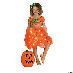 Lite Up Pumpkin Princess Girl's Costume