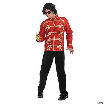 michael jackson red military jacket halloween costume for men