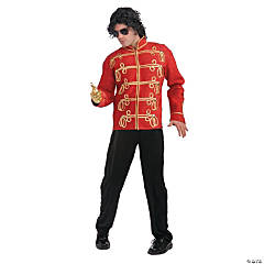 Michael Jackson Red Military Jacket Adult Men's Costume