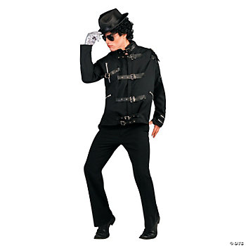 "Michael Jackson ""Bad"" Black Buckle Jacket Deluxe Adult Men's Costume"