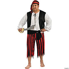 Plus Size Pirate Adult Men's Costume
