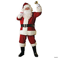 Plush Regal Santa Suit Adult Men's Costume