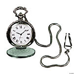 Pocket Watch With Chain - Silvertone