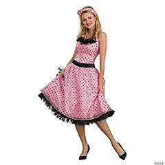 Polka Dot Prom Adult Women's Costume