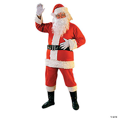 Santa Suit Flannel Adult Men's Costume
