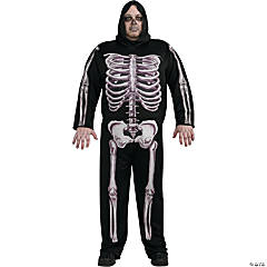 Skeleton Plus Size Adult Men's Costume