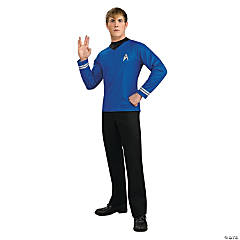 Star Trek Uniform Blue Movie Deluxe Shirt Costume for Men