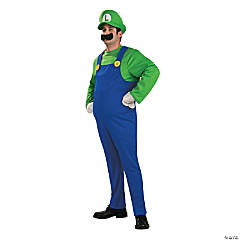 Super Mario Luigi Plus Size Deluxe Adult Men's Costume