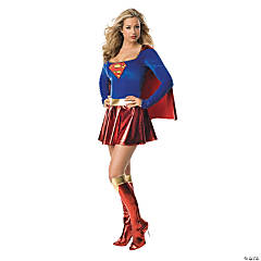 Adult Woman's One Piece Supergirl Costume