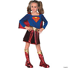Deluxe Supergirl Girl's Costume