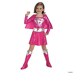 Supergirl Pink Girl's Costume
