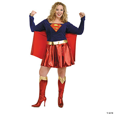 Plus Size Woman's Supergirl Costume