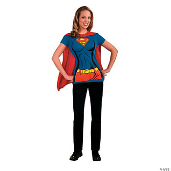Supergirl™ Shirt Adult Women's Costume