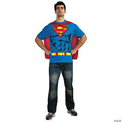 Superman Shirt Adult Men's Costume
