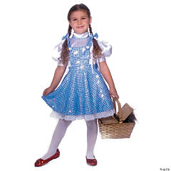 Wizard Of Oz Dorothy Deluxe Girl's Costume