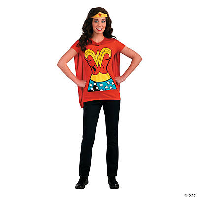 Wonder Woman Shirt Adult Women's Costume