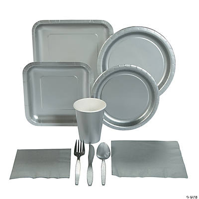Metallic Silver Tableware
