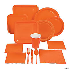 Square Orange Tableware