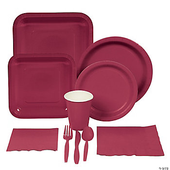Burgundy Tableware
