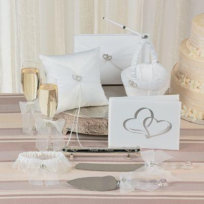 Love 2 Hearts Wedding theme accessory set