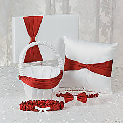 Red Ribbon Wedding Set