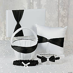 Black Ribbon Wedding Set