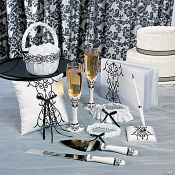 Black and White Wedding Set
