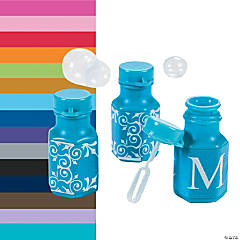 Monogrammed Bubble Bottles