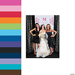 Monogrammed Photo Backdrop Banners
