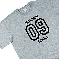 Personalized Team Grey T-Shirt