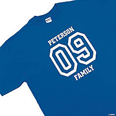 Personalized Team Blue T-Shirt