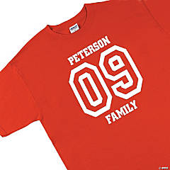 Personalized Team Red T-Shirt
