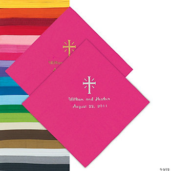 Personalized Cross Napkins
