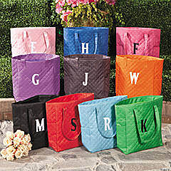 Monogrammed Quilted Totes
