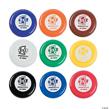 Personalized Team Spirit Flying Disks