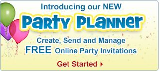 Introducing our NEW Party Planner - Create, Send and Manage FREE Online Party Invitations