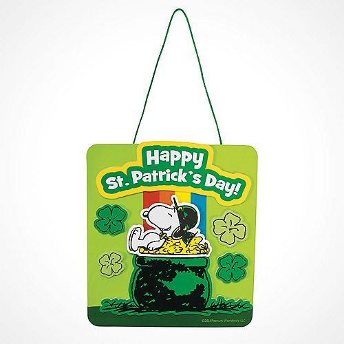 Peanuts® St. Patrick?s Day Rainbow Sign Craft Kit